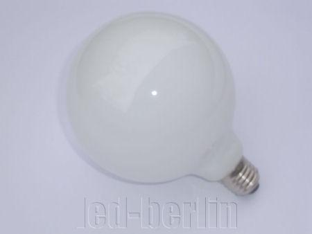 LED-Kugel-Birne-Globe-G95-E27-Milchglas-warm-weiss-7W-Leuchtmittel-Gluehbirne-60W
