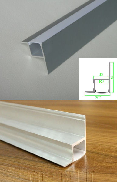 2m Alu Profil Schiene Leiste Decken Wand Beleuchtung ...