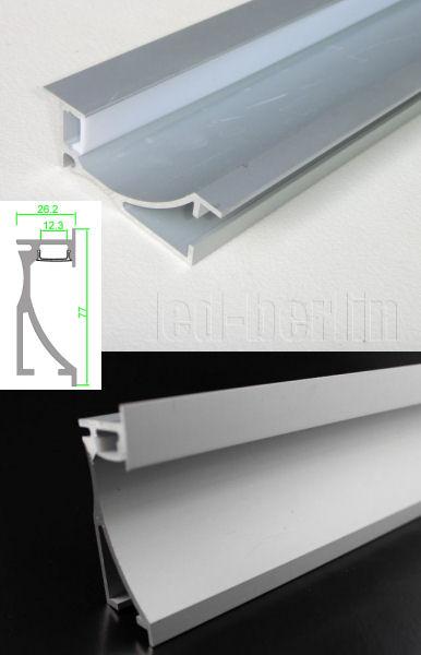 Vorgezogene Wand Indirekte Beleuchtung :  LeisteSchieneindirekteWandDeckenBeleuchtungLeuchteStripBand